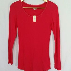 Aerie Thermal Shirt Long Sleeve Red NWT Undershirt